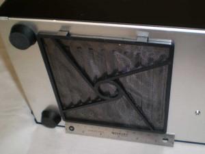 "Bottom vent filter installed, 152mm ruler (6"") for scale"