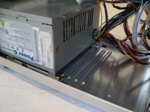 Extended vents in case bottom allow for longer PSUs