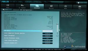 Advanced / CPU Configuration