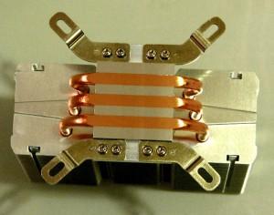 Bottom view of heatsink