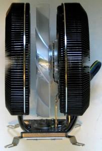 Side view of heatsink