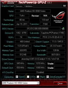 GPUZ screenshot with 6570 details