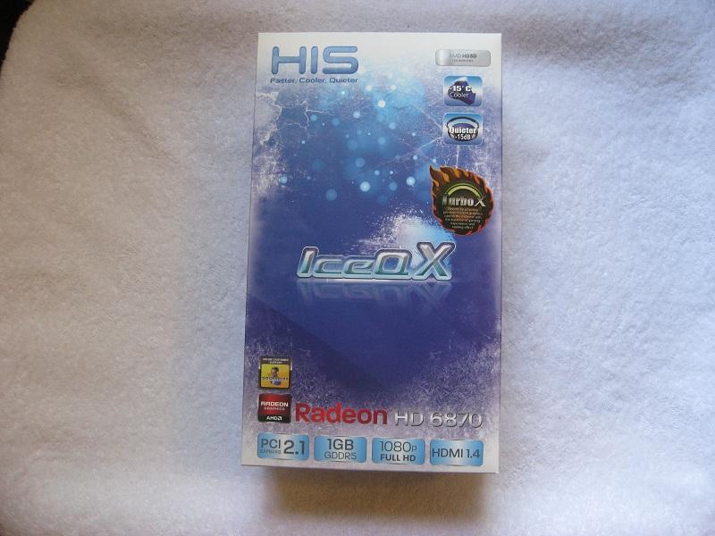 HIS 6870 IceQ X Turbo X retail box.