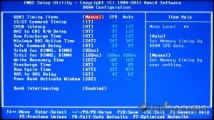 DRAM Configuration Menu