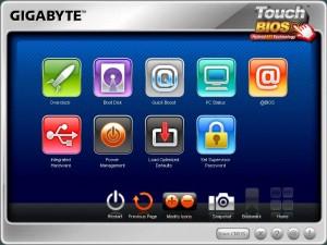 Touch BIOS Main Screen