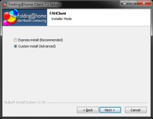 Folding At Home ver. 7beta install process #1