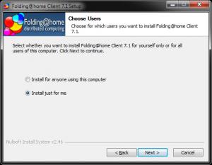 Folding At Home ver. 7beta install process #2