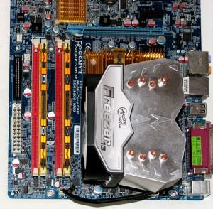 Freezer 13 mounted on LGA775 board.