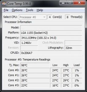 Core Temp 0.99.8