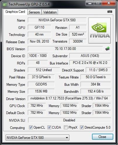 GPUz 5.4