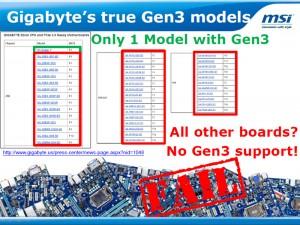 Gigabyte's True Gen3 Model (Courtesy MSI)