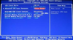 BIOS Advanced Frequency (Inside MIT)