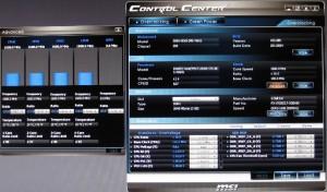MSI Control Center CPU Advanced