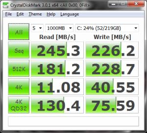 CrystalDiskMark, 0 Fill
