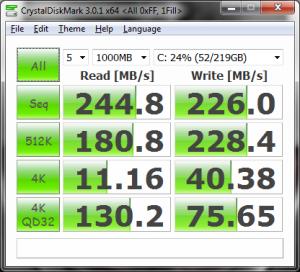 CrystalDiskMark, 1 Fill
