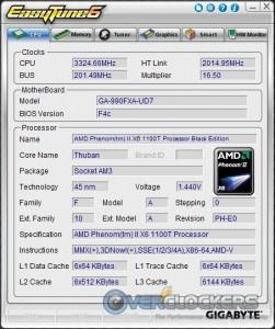 EasyTune6 - CPU Info