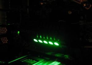 Green lights on the heatsink
