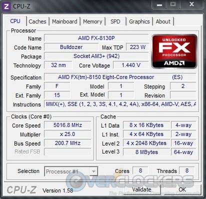 AMD FX-8150 @ 5000 MHz