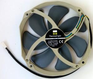 Exhaust side of fan.