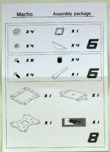 Parts sheet.
