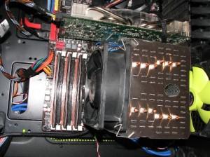Using MUX-120 fan clips, 38 mm fan mounted on Macho.