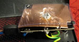 Receptacle transient filter EMF shield