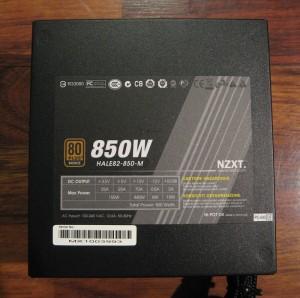HALE82 850w PSU, label side.