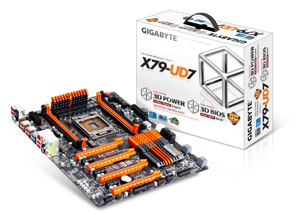 Gigabyte GA- X79-UD7 (Courtesy of Gigabyte)