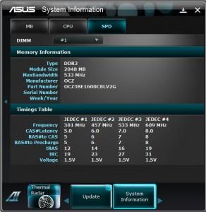 System Information showing SPD