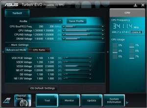Turbo Evo Advanced options