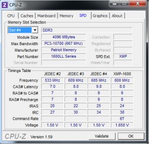CPUz SPD tab