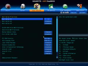 UD7 Bios - Bios Features