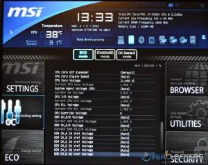 CPU and RAM voltages