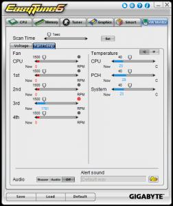 HW Monitor Tab - Fans & Temps