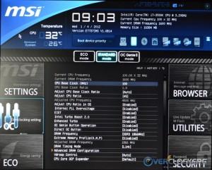 CPU and RAM OC Settings