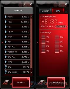Sensor & CPU Monitors