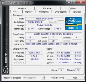 Eleet 1.09.9 - CPU tab