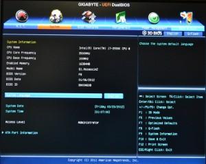 BIOS System Spec