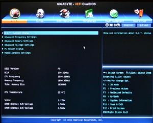 Advanced BIOS - MIT Screen