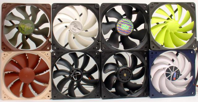 Eight PWM fans
