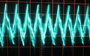 5 V low load ripple, ~53 mV (scope: 5 µs / 10 mV)