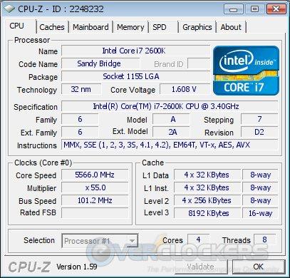 CPUz @ 5566 MHz