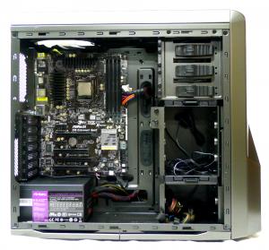 NZXT Phantom 410 motherboard installed