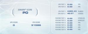 3DMark Vantage CPU test results.