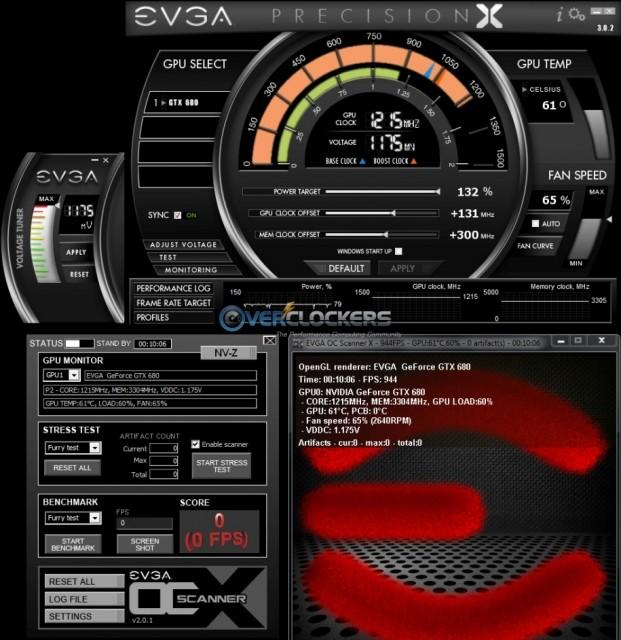 EVGA GTX 680 @ 1215/3305 MHz