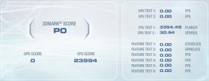 3DMark Vantage CPU test result.