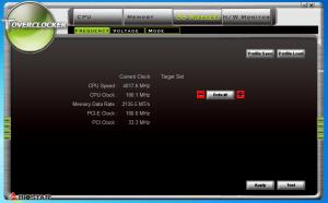 Toverclocker Frequency Tweak page.