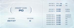 3DMark Vantage with stock GPU clocks and no Virtu.