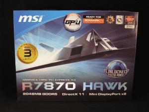 MSI R7870 HAWK Retail packaging - Front