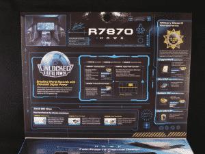 MSI R7870 HAWK Retail packaging - Lid top